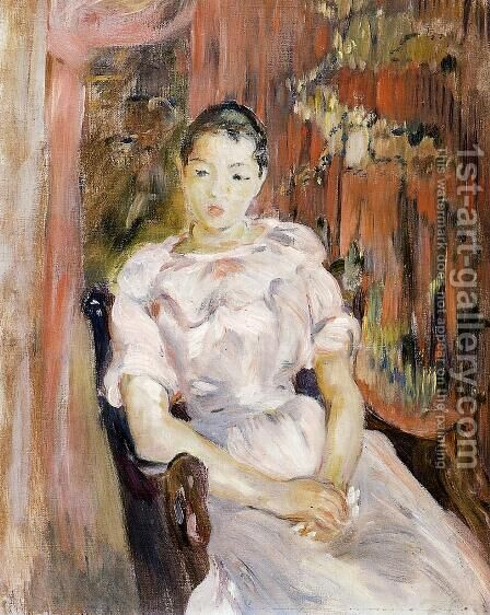 Young Girl Resting by Berthe Morisot - Reproduction Oil Painting
