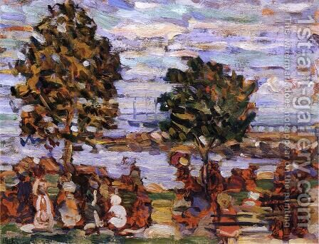 Crepuscule Aka Sunset by Maurice Brazil Prendergast - Reproduction Oil Painting