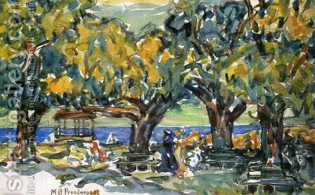 Salem  Massachusetts by Maurice Brazil Prendergast - Reproduction Oil Painting
