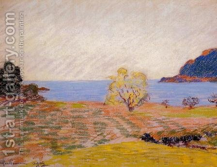 Agay Landscape by Armand Guillaumin - Reproduction Oil Painting