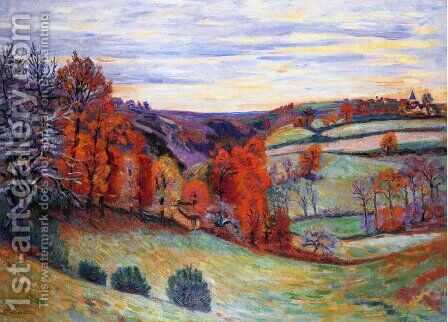 Barnyard  Crozant by Armand Guillaumin - Reproduction Oil Painting