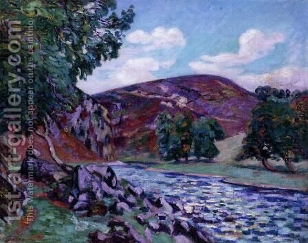 Crozant Landscape by Armand Guillaumin - Reproduction Oil Painting