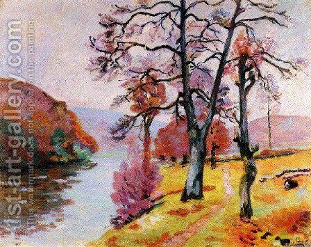 Crozant  Echo Rock  Winter by Armand Guillaumin - Reproduction Oil Painting