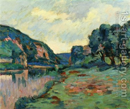 Echo Rock by Armand Guillaumin - Reproduction Oil Painting