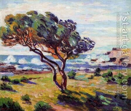 Gust Of Wind  Le Brusc by Armand Guillaumin - Reproduction Oil Painting