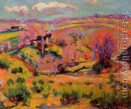 La Creuse Landscape  Spring by Armand Guillaumin - Reproduction Oil Painting