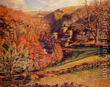 La Ravin De La Folie  Crozant by Armand Guillaumin - Reproduction Oil Painting
