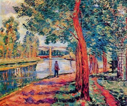 Moret by Armand Guillaumin - Reproduction Oil Painting
