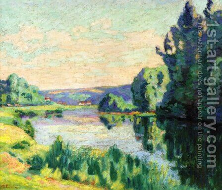 Nanteuil Sur Marne by Armand Guillaumin - Reproduction Oil Painting