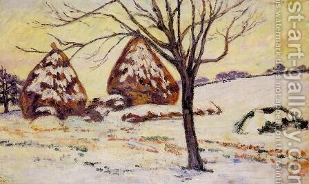 Palaiseau   Snow Effect by Armand Guillaumin - Reproduction Oil Painting