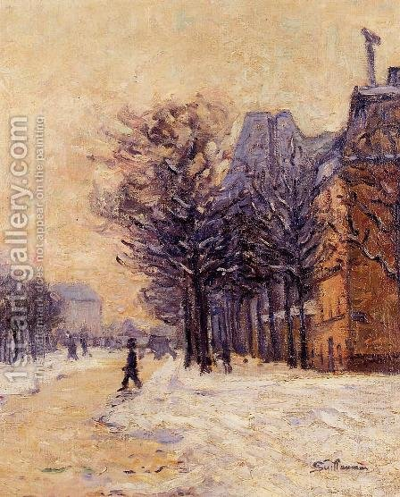 Passers By In Paris In Winter by Armand Guillaumin - Reproduction Oil Painting