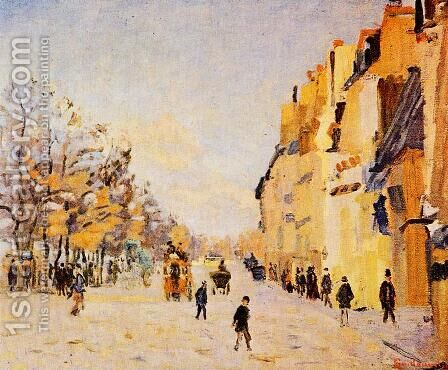 Quai De Bercy   Snow Effect Aka Paris  Quai De Bercy  Effet De Neige by Armand Guillaumin - Reproduction Oil Painting