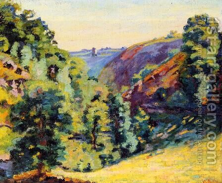 Ravin De La Sadelle A La Follie by Armand Guillaumin - Reproduction Oil Painting