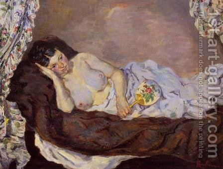 Reclining Nude by Armand Guillaumin - Reproduction Oil Painting