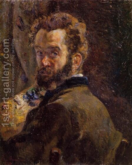 Self Portrait With Easel by Armand Guillaumin - Reproduction Oil Painting