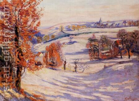 Snow At Crozant by Armand Guillaumin - Reproduction Oil Painting