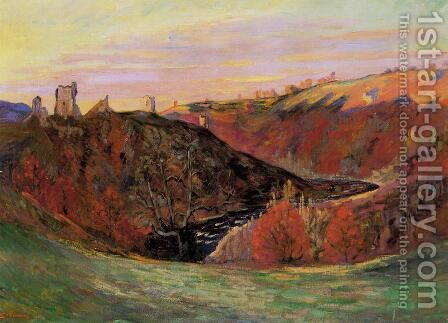 Sunset On The Creuse by Armand Guillaumin - Reproduction Oil Painting