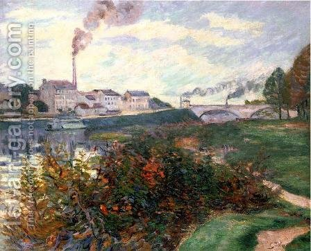 The Banks Of The Marne by Armand Guillaumin - Reproduction Oil Painting