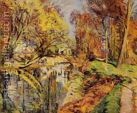 The Banks Of The Orge At Epiney  Ile De France by Armand Guillaumin - Reproduction Oil Painting