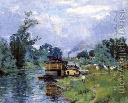 The Banks Of The River2 by Armand Guillaumin - Reproduction Oil Painting