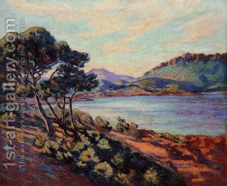 The Bay At Agay by Armand Guillaumin - Reproduction Oil Painting