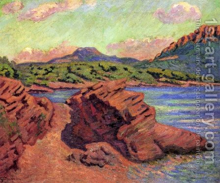 The Bay Of Agay by Armand Guillaumin - Reproduction Oil Painting