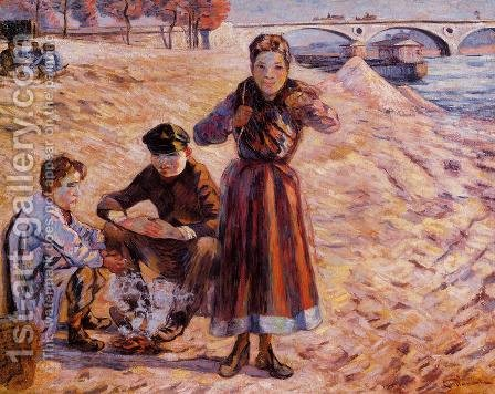 The Little Thieves by Armand Guillaumin - Reproduction Oil Painting