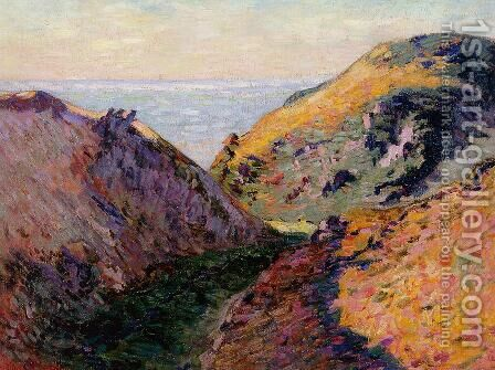 The Lude Valley At Carolles by Armand Guillaumin - Reproduction Oil Painting
