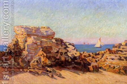 The Platin Rock At Saint Palais by Armand Guillaumin - Reproduction Oil Painting