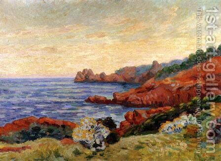 The Red Rocks At Agay by Armand Guillaumin - Reproduction Oil Painting