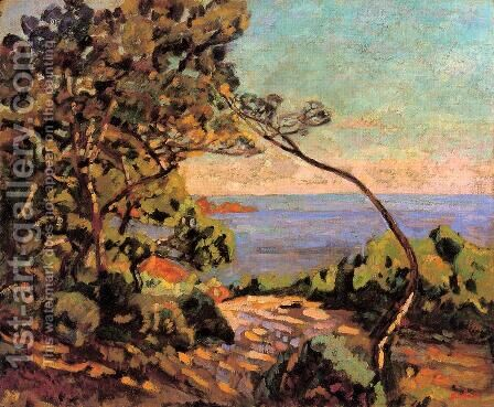 The Sea At Pointe De La Perriere  Saint Palais by Armand Guillaumin - Reproduction Oil Painting