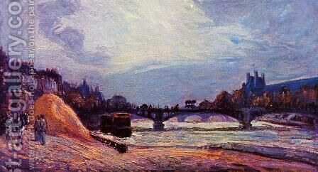 The Seine At Charenton2 by Armand Guillaumin - Reproduction Oil Painting