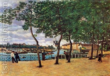 The Seine At Paris Aka Quai De La Rapee by Armand Guillaumin - Reproduction Oil Painting