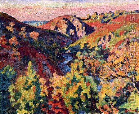 The Valley Of The Creuse2 by Armand Guillaumin - Reproduction Oil Painting