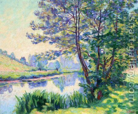 Villiers Sur Morin by Armand Guillaumin - Reproduction Oil Painting