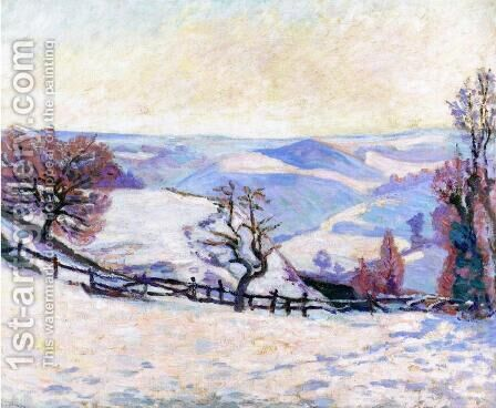 White Frost At Puy Barriou by Armand Guillaumin - Reproduction Oil Painting