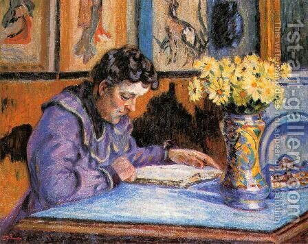 Woman Reading by Armand Guillaumin - Reproduction Oil Painting