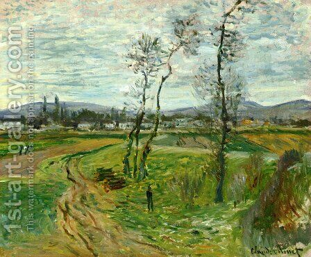 A Field At Gennevilliers by Claude Oscar Monet - Reproduction Oil Painting