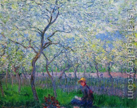 An Orchard In Spring by Claude Oscar Monet - Reproduction Oil Painting