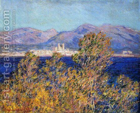 Antibes Seen From The Cape  Mistral Wind by Claude Oscar Monet - Reproduction Oil Painting