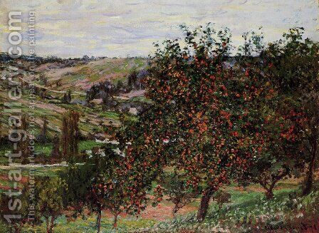 Apple Trees Near Vetheuil by Claude Oscar Monet - Reproduction Oil Painting