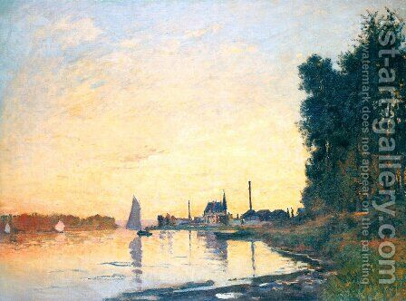 Argenteuil  Late Afternoon by Claude Oscar Monet - Reproduction Oil Painting