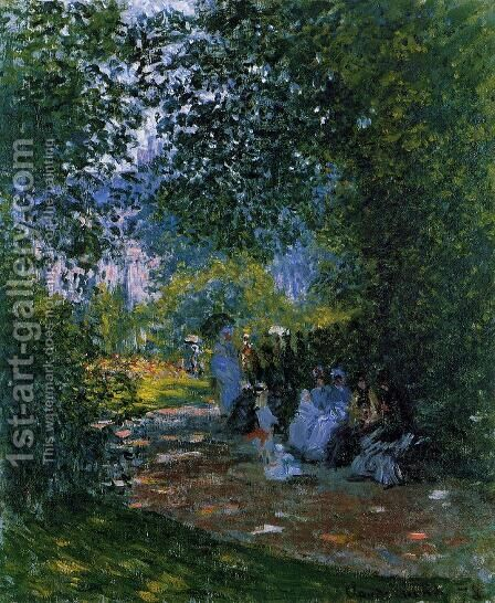 At The Parc Monceau by Claude Oscar Monet - Reproduction Oil Painting