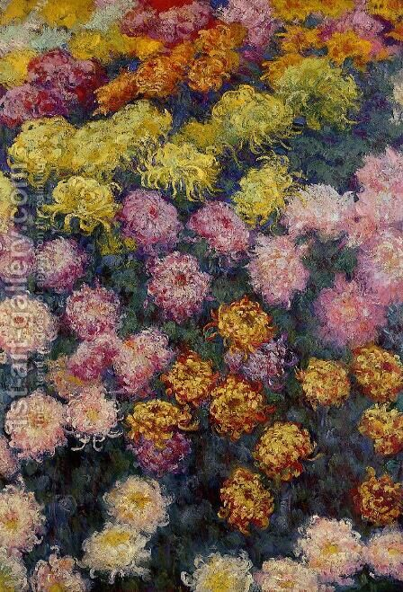 Bed Of Chrysanthemums by Claude Oscar Monet - Reproduction Oil Painting
