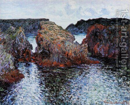 Belle Ile  Rocks At Port Goulphar by Claude Oscar Monet - Reproduction Oil Painting