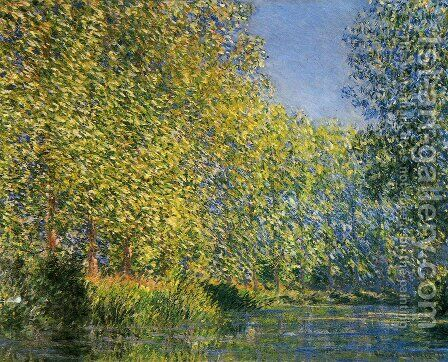 Bend In The River Epte by Claude Oscar Monet - Reproduction Oil Painting