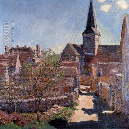 Bennecourt by Claude Oscar Monet - Reproduction Oil Painting