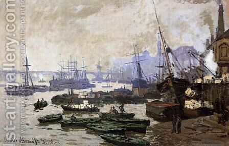 Boats In The Port Of London by Claude Oscar Monet - Reproduction Oil Painting