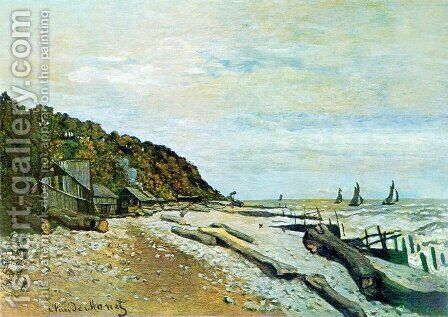 Boatyard Near Honfleur by Claude Oscar Monet - Reproduction Oil Painting