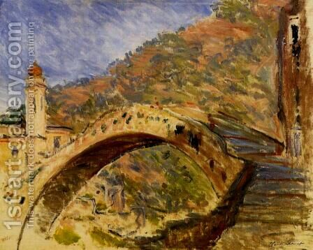 Bridge At Dolceacqua by Claude Oscar Monet - Reproduction Oil Painting